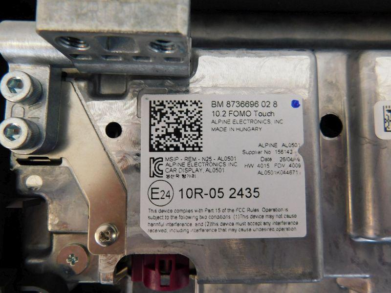 DVD-Wechsler Fond-Monitor 10,2 Touch Bildschirm links oder rechtsBMW X6 (G06) M50D